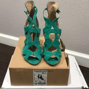 Zara green heels, worn only once